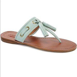 COACH Sheena Fringe Sandals Mint Size 9